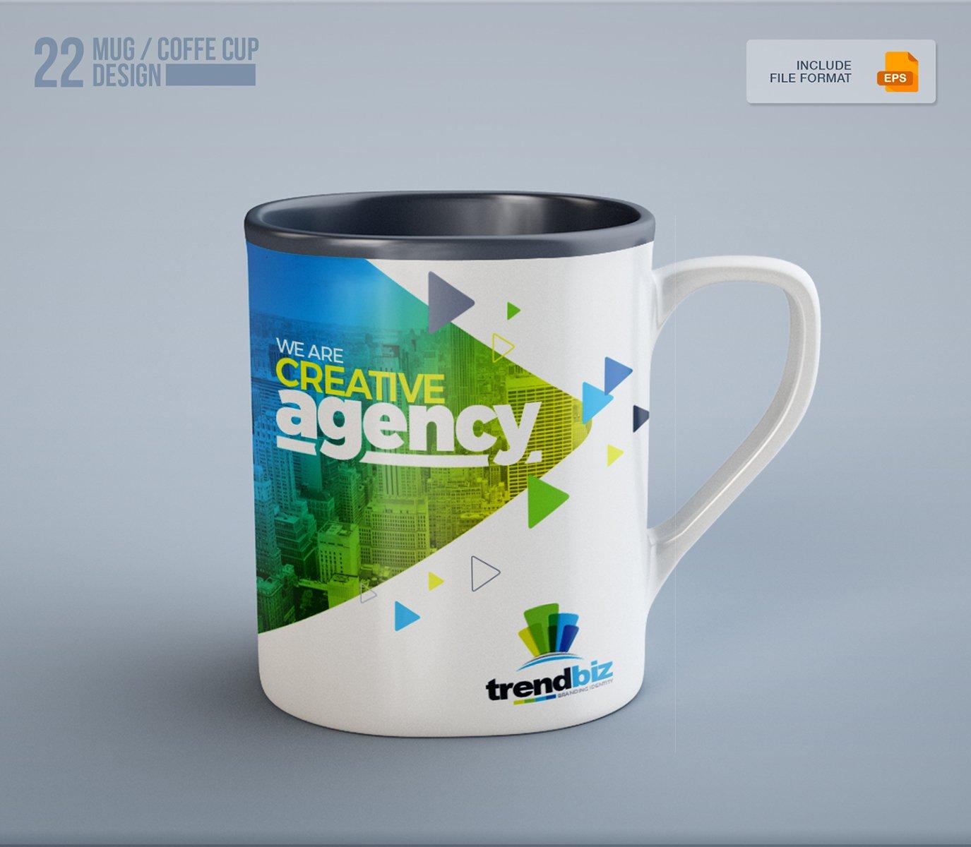 Stationery Branding Identity Bundle - $39 - 42 Mug and Coffee Cup