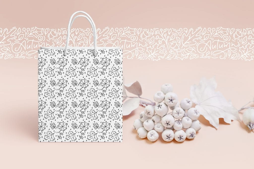 Beautiful gift bag for autumn holidays