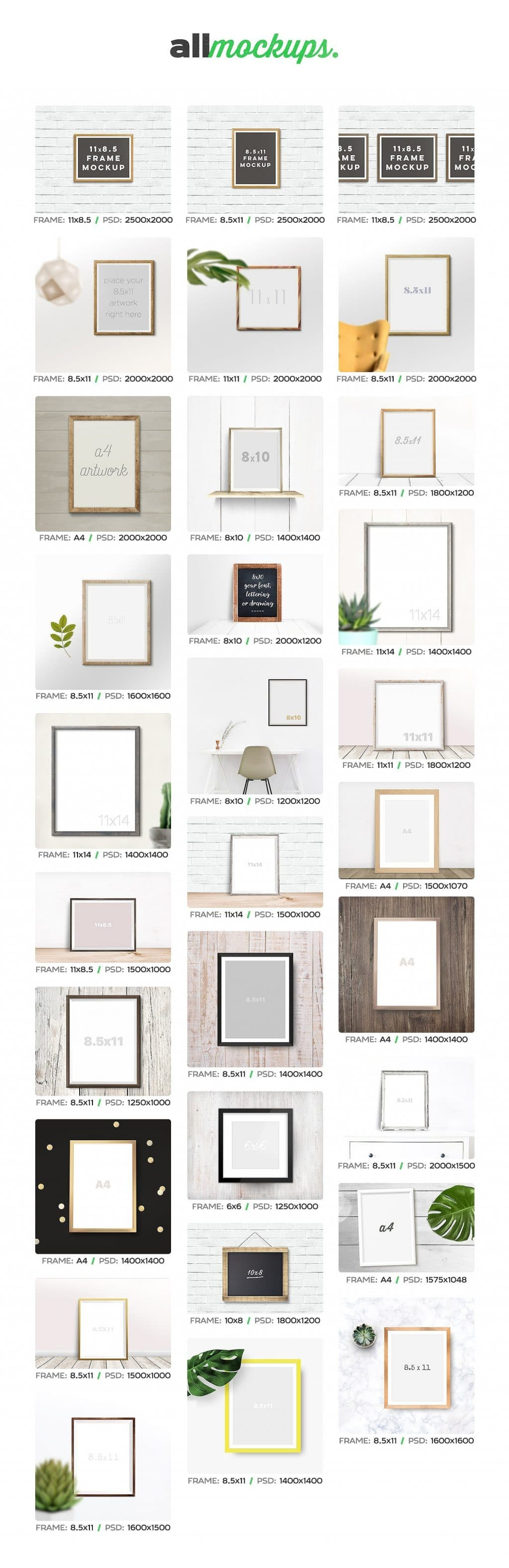 Beautiful Pack Of Different Frames For Any Taste