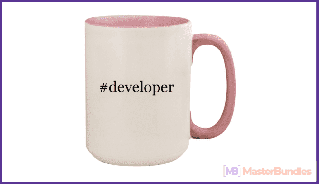 Ceramic Colored Inside and Handle Coffee Mug Cup. Gift for Programmers