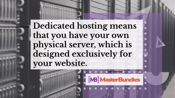 Dedicated Server. Hosting Types of Web Hosting