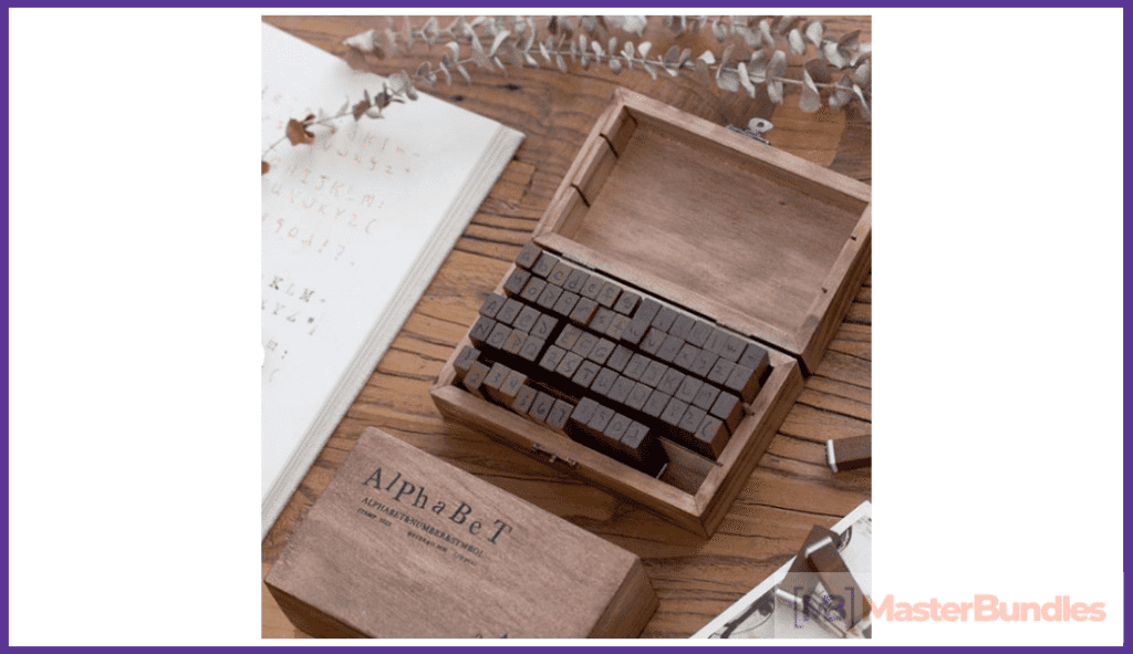 English Alphabet Stamps. Christmas Gifts for Artists