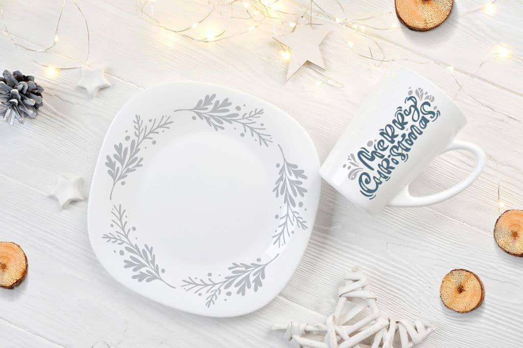 Lovely Cutlery With Christmas Ornament And Lettering