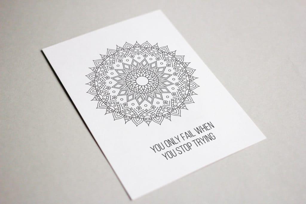 Mandala Coloring Postcard
