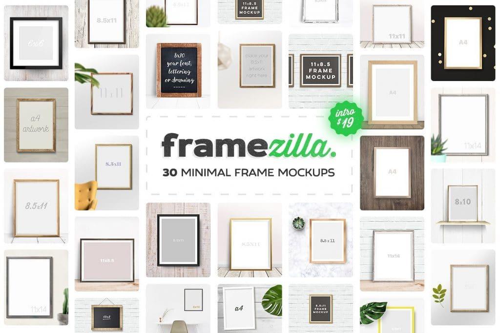 Set Of Nice Minimal Frame Mockups