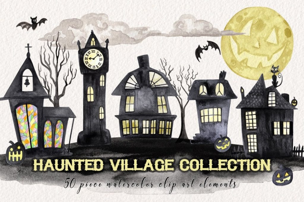 130+ Best Halloween Clipart in 2020: Photos, Pumpkins, Greeting Cards - thumb1