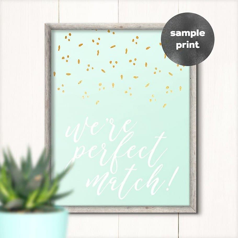 White Minimal Frame With Big Green Leaf
