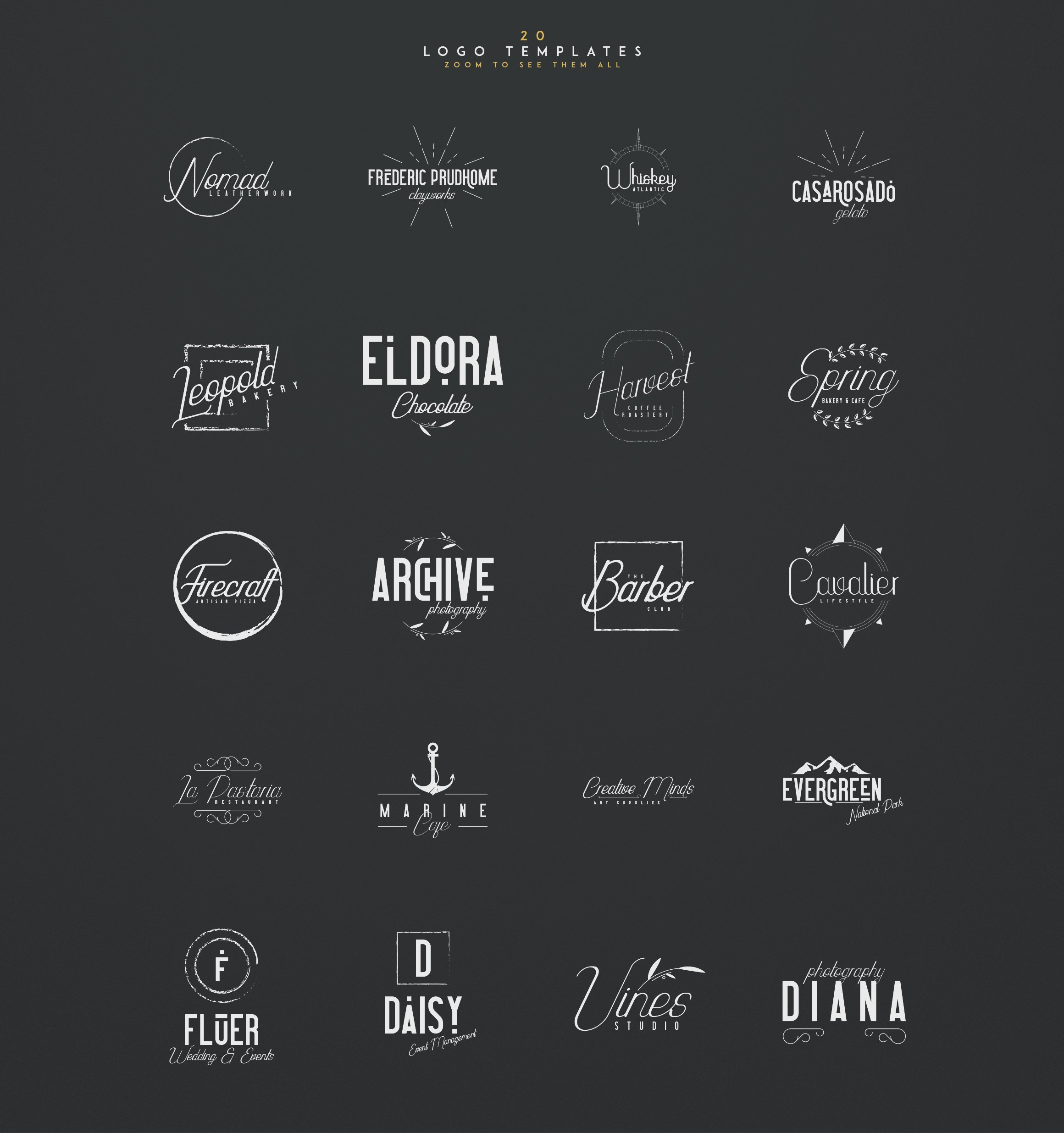 Highway Contraband Vintage Script Font Bundle: Font Duo + 20 Logo Templates + 44 Vector Elements - 8