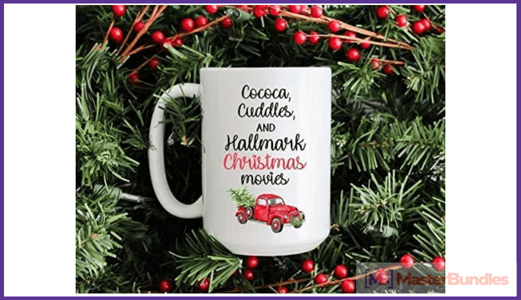 Great festive cup with Christmas elements.