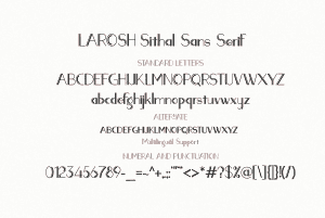 Hipster Script Fonts: LAROSH Sithal Duo + Extra - $10