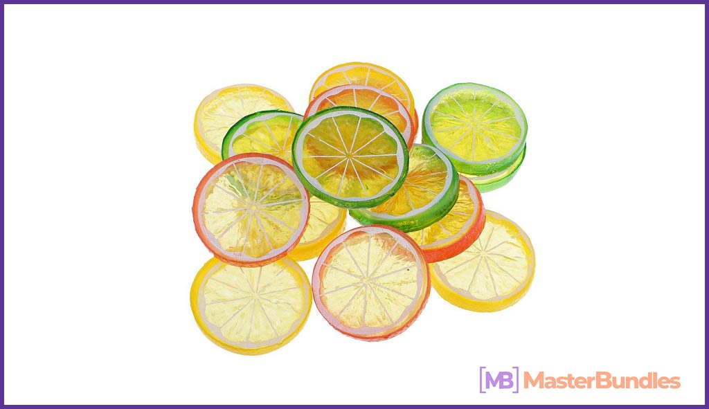 Assorted Plastic Fake Lemon Slices