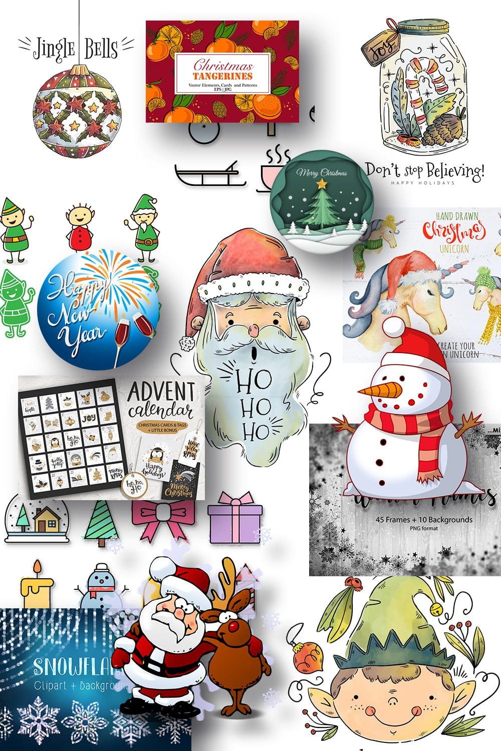 Pinterest Image Best Christmas Clipart.