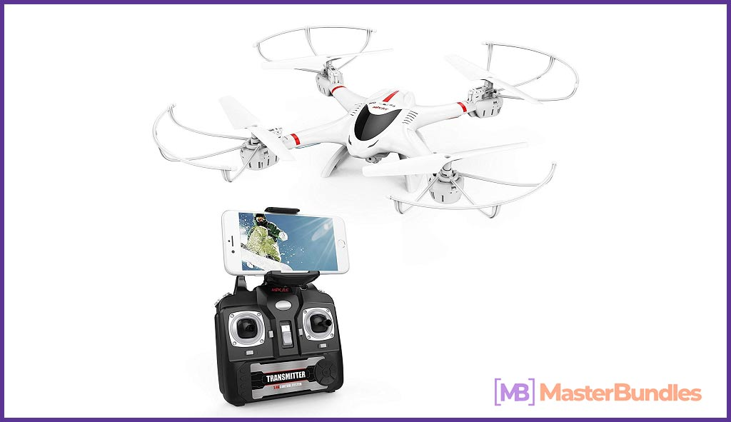 DBPOWER X400W FPV RC Quadcopter Drone with WiFi Camera Live Video