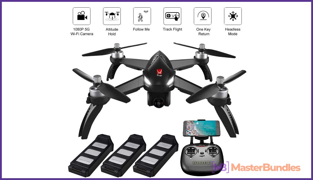 Modern and multifunctional quadcopter.