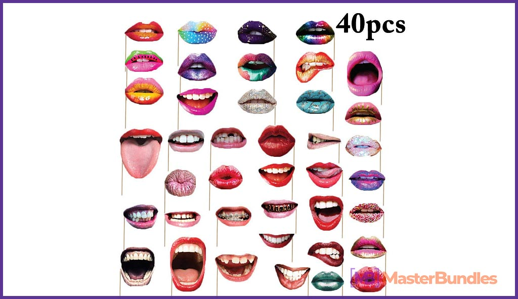 Funny Mouth Lips Photo Booth Prop