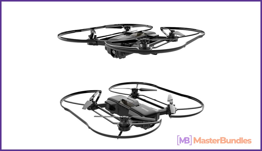 High Great Mark Drone Flying Foldable WiFi Quadcopter with VIO Positioning 4K HD Camera. Best Gifts Ideas For Photographers