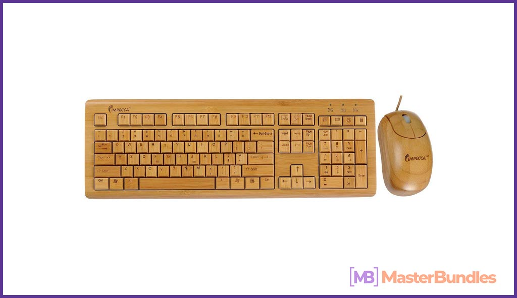 Wooden keyboard with a teddy bear. This gift is for the brave and who like to stand out.