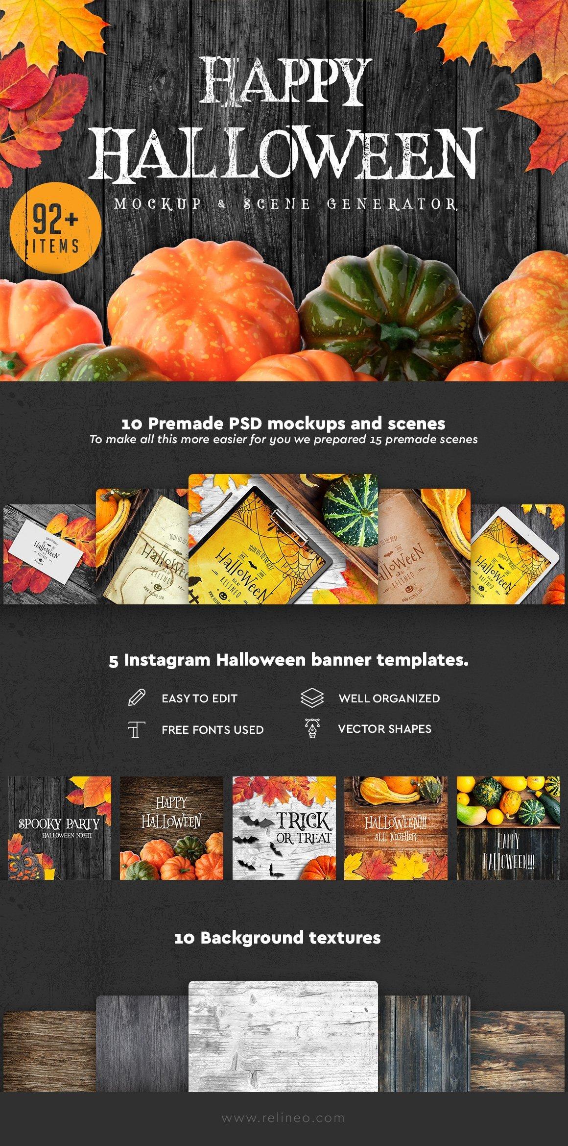 Halloween Scene and Mockup Creator