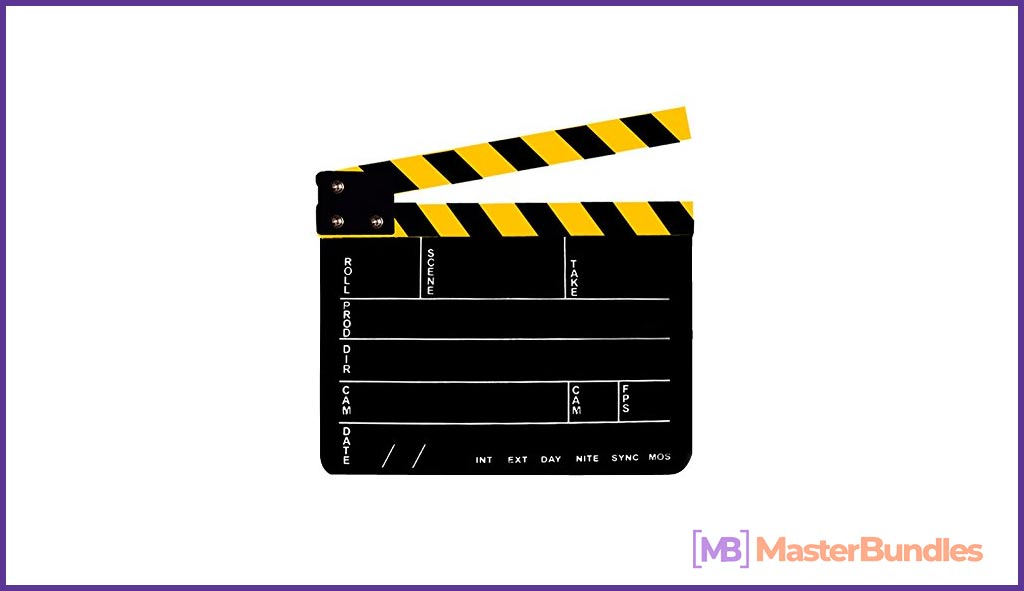 Professional Studio Camera Photography Video Acrylic Clapboard