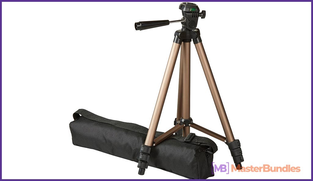 Basics Lightweight Camera Mount Tripod Stand With Bag - 16.5 - 50 Inches