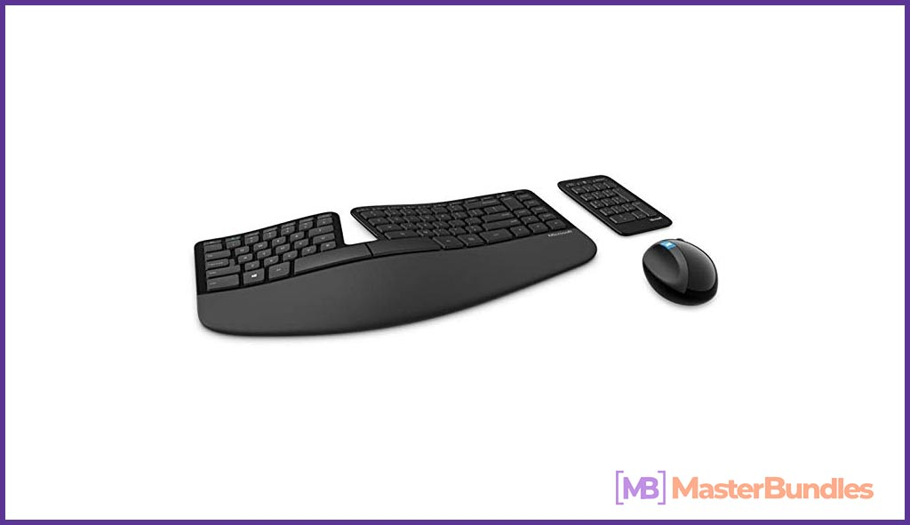 A modern set that consists of a keyboard and mouse.