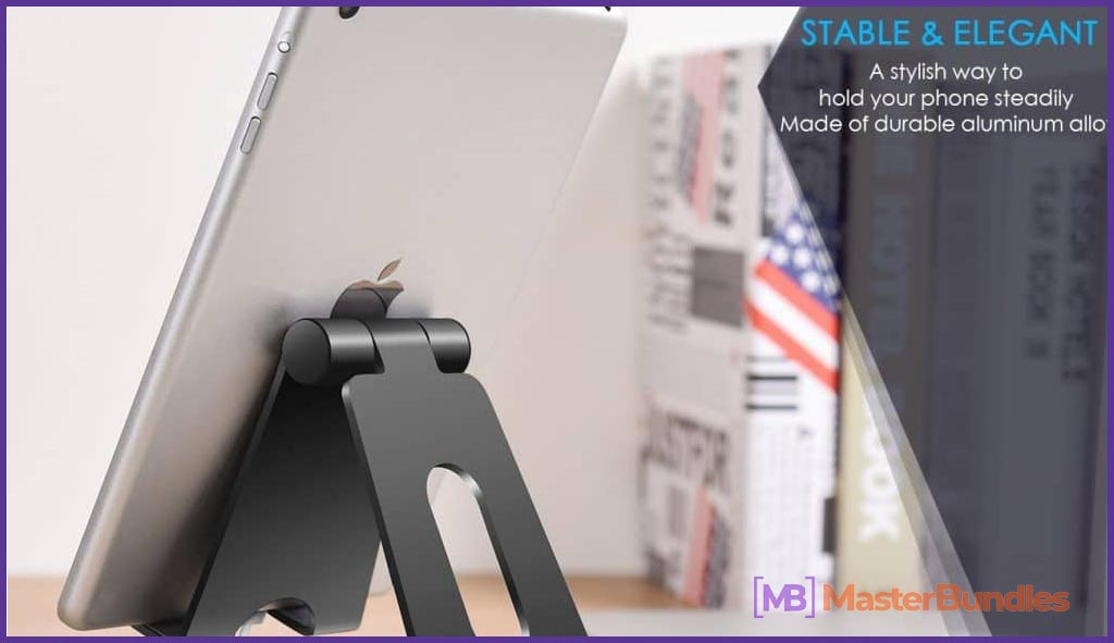 Tablet stand. Now you can save your eyesight and neck.