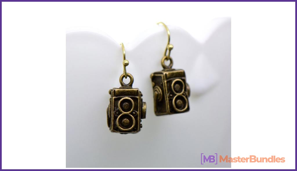 Twin-Lens Camera Earrings
