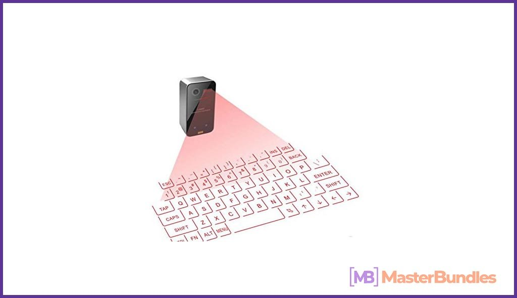 A device from the future - a virtual keyboard.