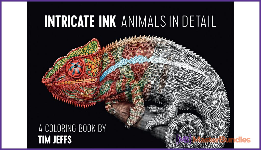 95+ Gifts for Graphic Designers 2020 - animals in detail coloring book 58