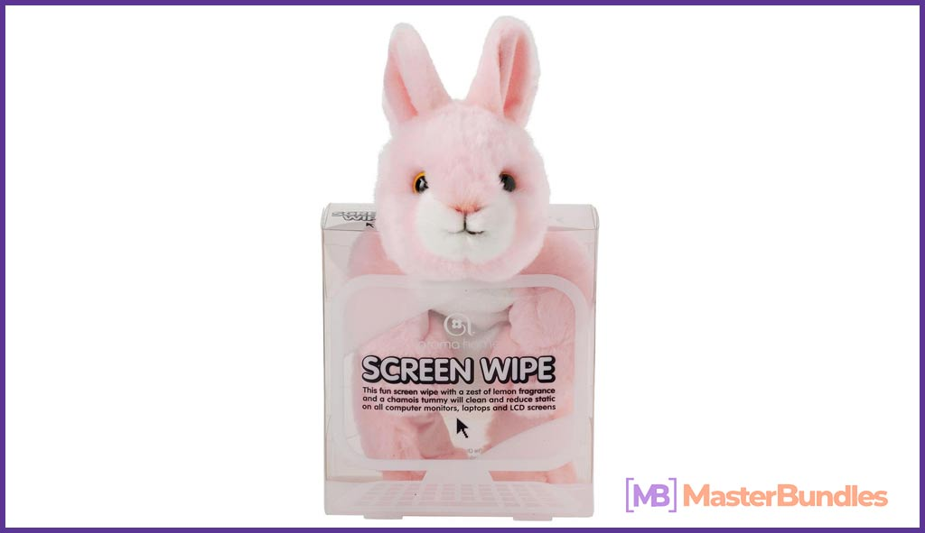 Aroma Home Screen Wipe Pink Bunny