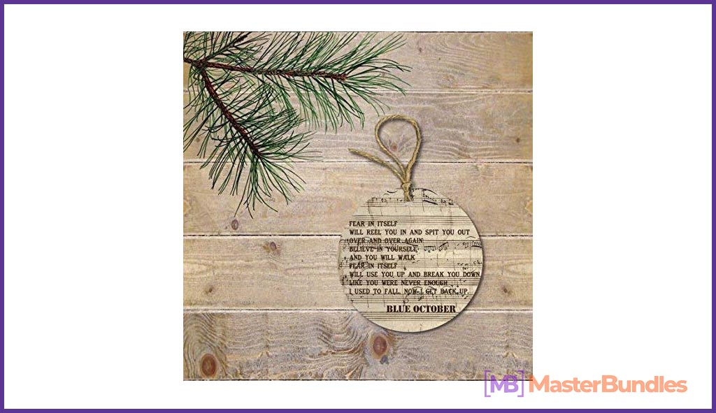 Blue October Christmas Ornament. Gifts for Musicians