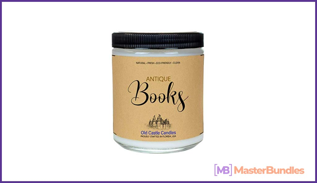 Book Candle - Antique Books - Literary Bookish Gift - 8