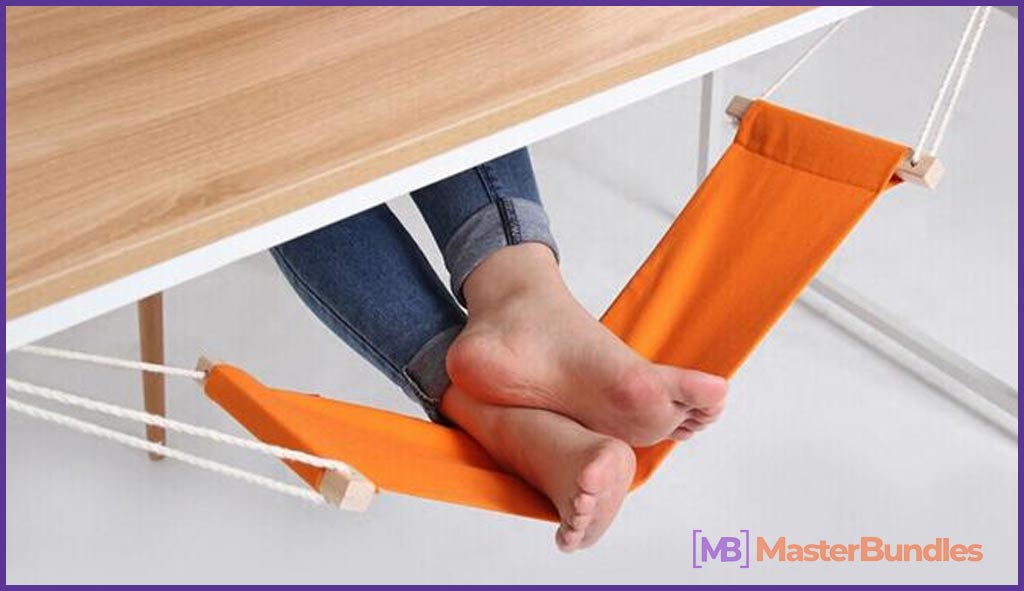 Canvas Foot Rest Desk Hammock