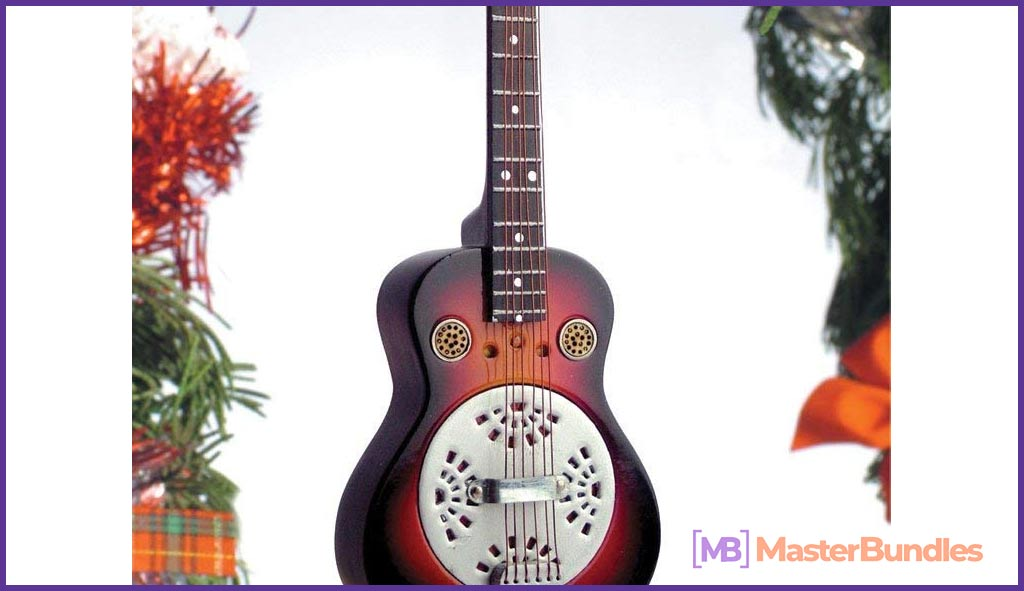 Guitar Christmas Ornament. Gifts for Musicians.