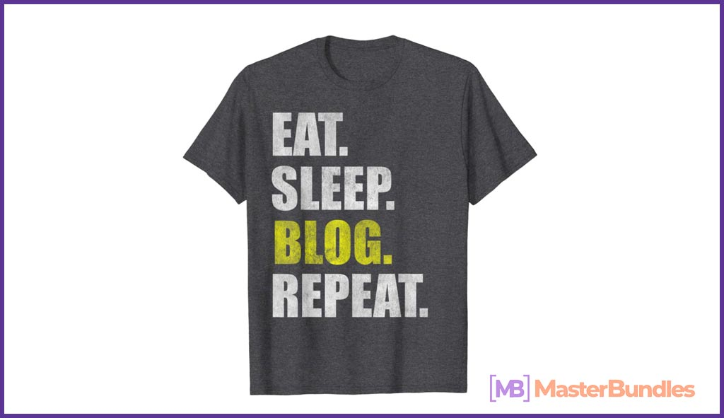 Eat Sleep Blog Repeat Blogger Blogging T-Shirt Geschenk