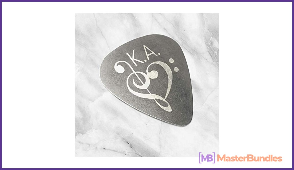 Engraved Guitar Pick. Gifts for Musicians.