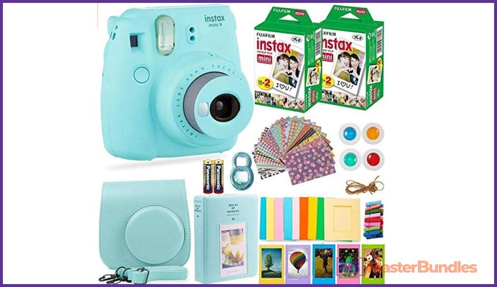 Gifts for Engineers. Fujifilm Instax Mini 9 Instant Camera + Fuji Instax Film