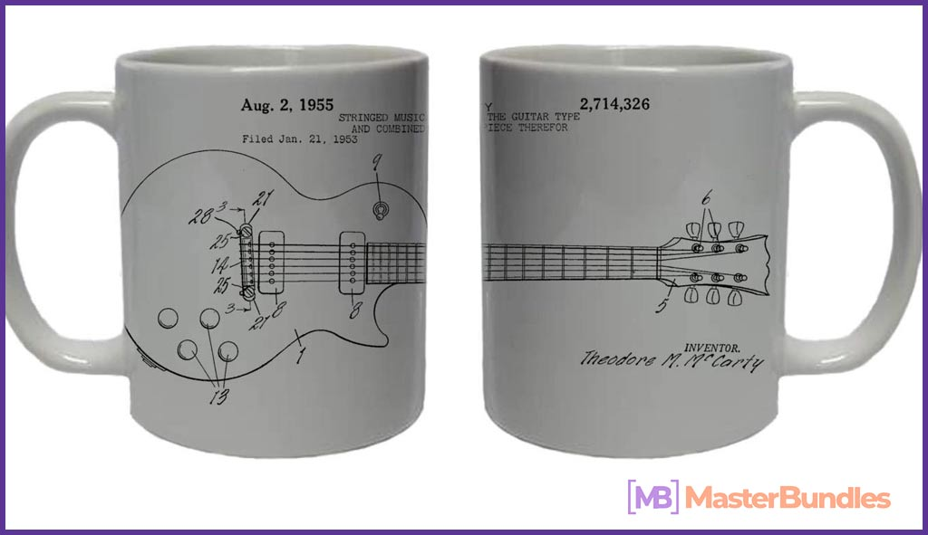 75+ Best Gifts for Musicians & Music Lovers in 2020 - gibson guitar musician patent coffee mug 16 1