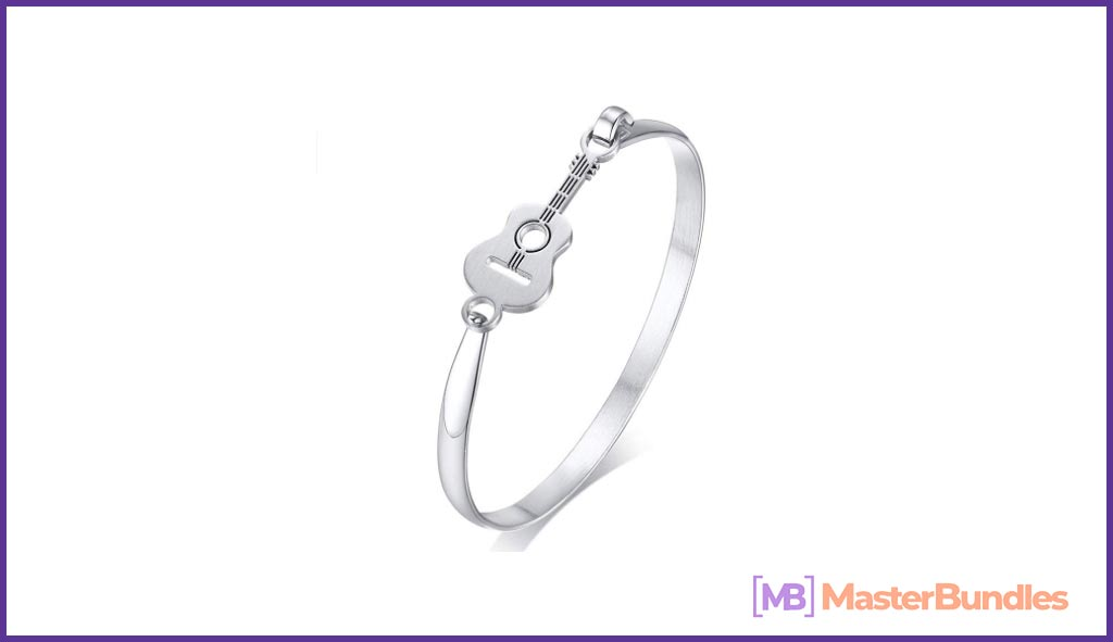 75+ Best Gifts for Musicians & Music Lovers in 2020 - guitar bangle bracelets 21