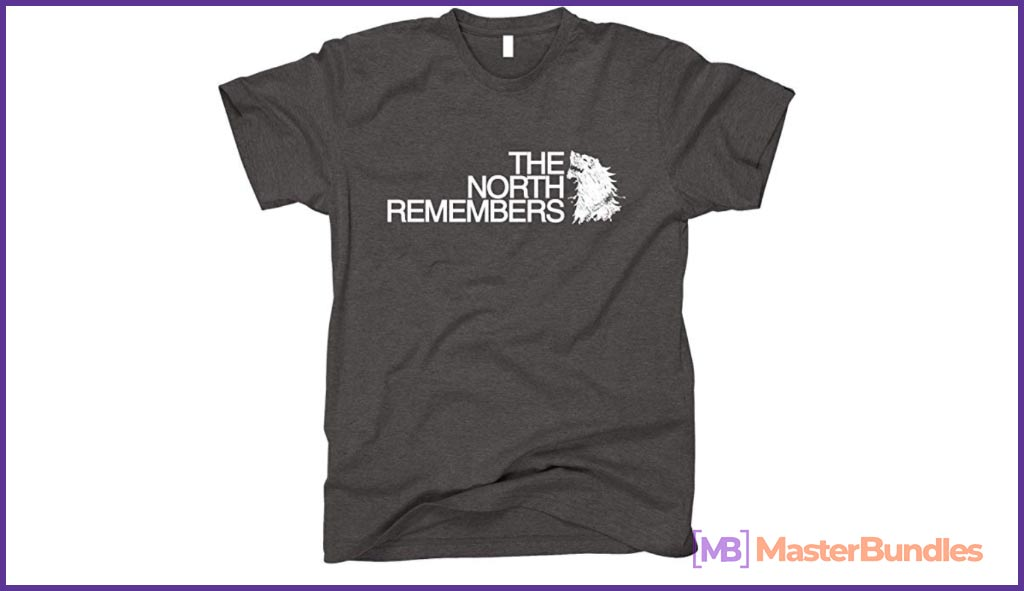 GunShowTees Men's The North Remembers GoT Shirt. Birthday Gift Ideas for Graphic Designer.