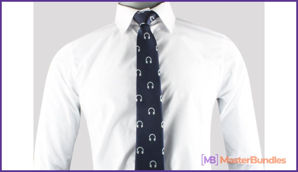 Headphones Music Lover Ties. Gifts for Musicians.