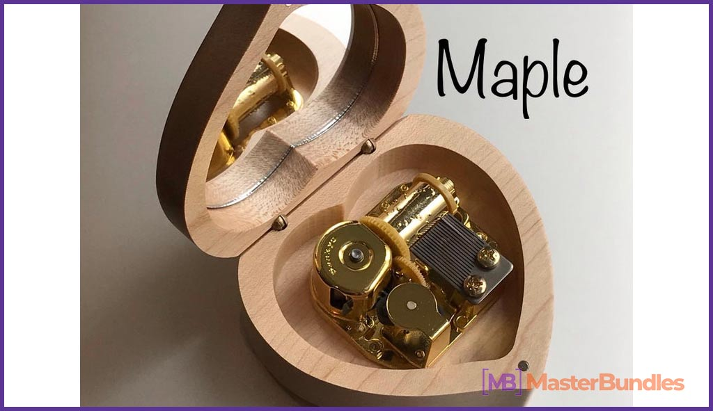 Heart-shaped Box. Gifts for Musicians