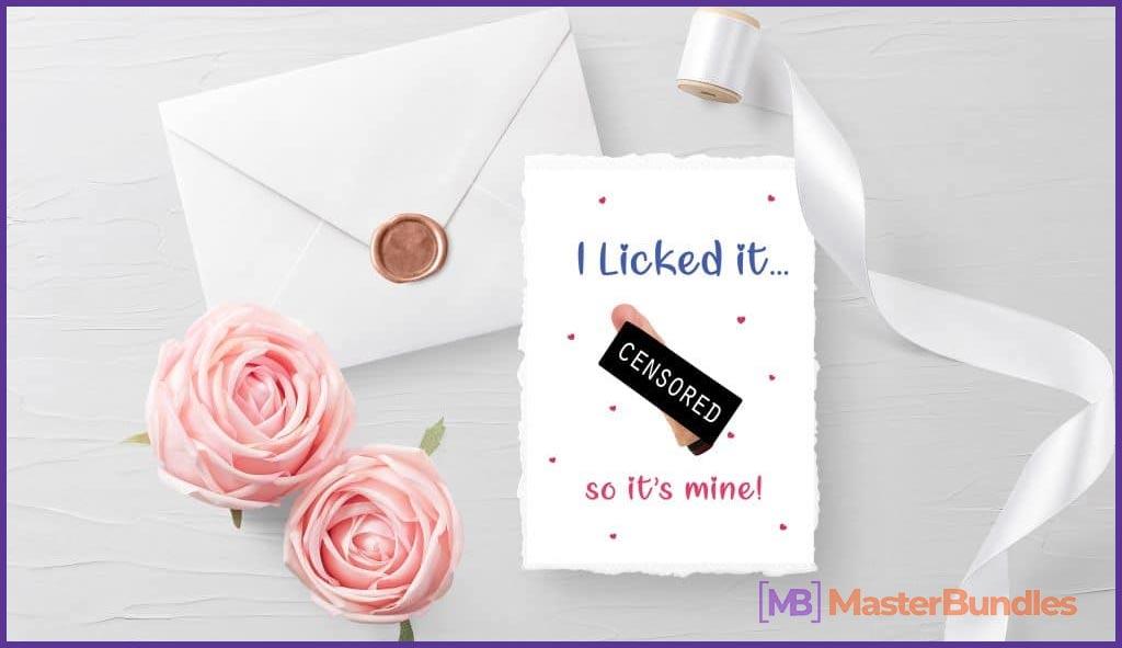I Licked It So It's Mine Postcard