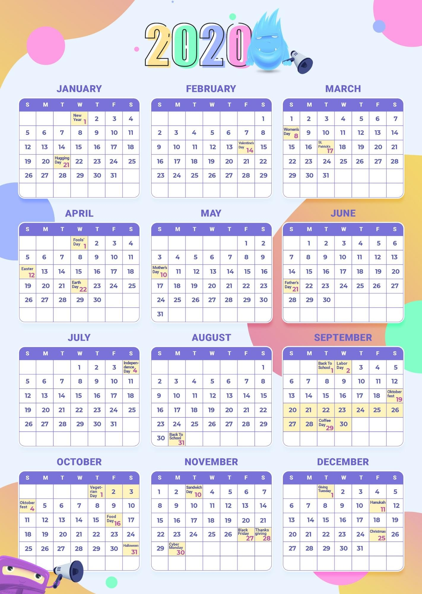 18 Editable Calendar Templates To Keep Track Of Important Dates and Events - image10 4