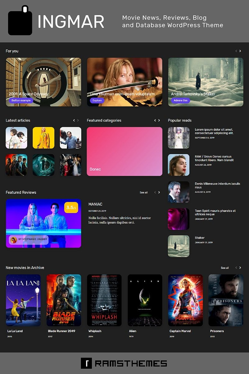 50+ Hottest Personal Blog WordPress Themes 2020: Free & Premium - image14 2