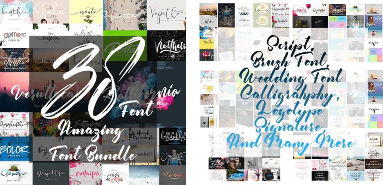 Neat Handwriting Fonts – 38 Amazing Fonts Bundle.