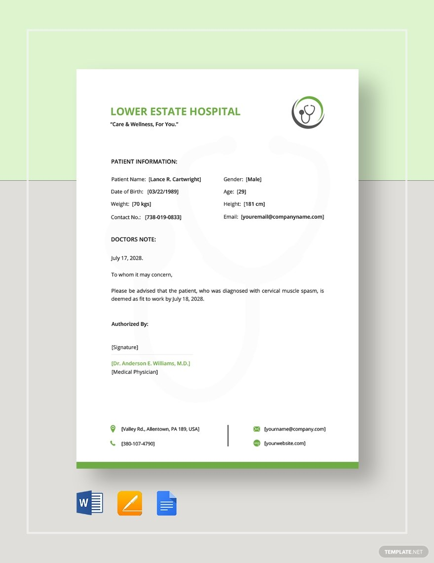 45+ Best Doctor Note Templates and Certificates in 2020: Free and Premium - image7 2