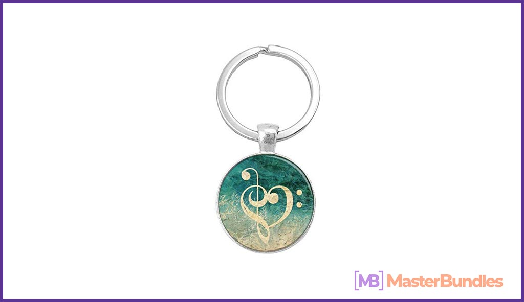Keychain. Gifts for Musicians.
