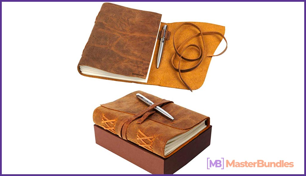 Leather Journal Notebook Gift Set with Luxury Pen