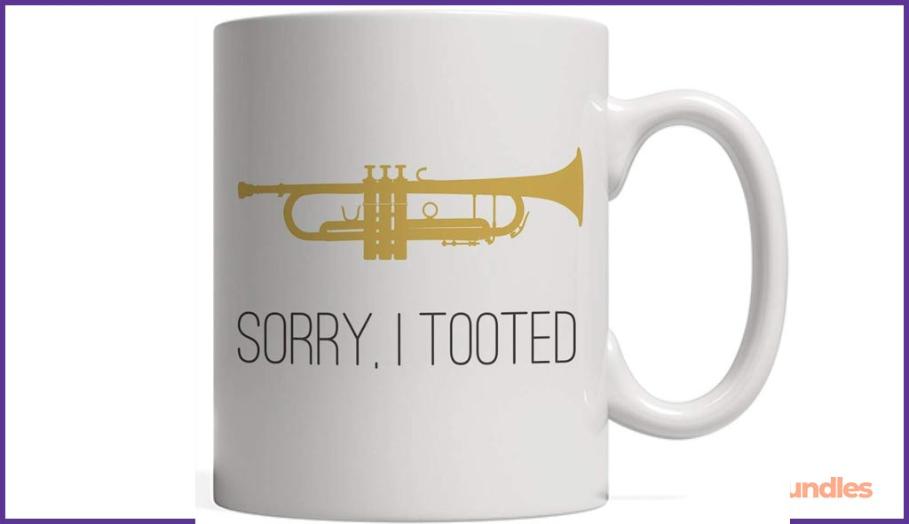 Sorry, I Tooted Mug .Gifts for Musicians